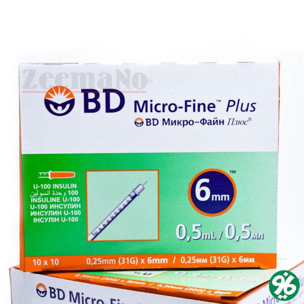 خرید اینترنتی سرنگ انسولین 0.5 سیسی BD
