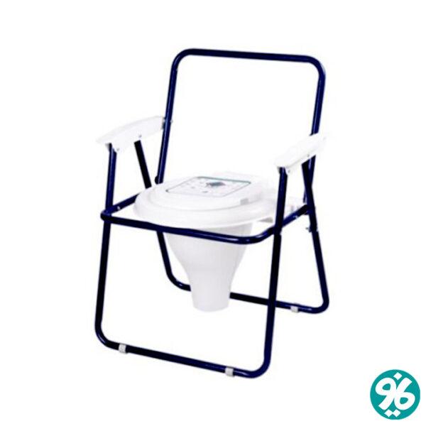 خرید آنلاین توالت فرنگی تاشو مبله رنگی با قیف برتر